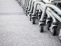 Shopping carts. On parking lot Royalty Free Stock Photography