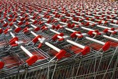 Shopping carts at a shopping center Stock Photos