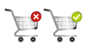 Shopping carts with sign Royalty Free Stock Photo