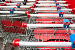 Shopping carts stack Stock Photography