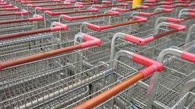 Shopping carts to buy food. This is a shopping carts to buy food Stock Images