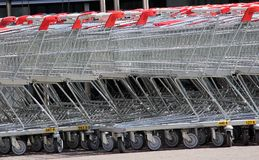 Shopping Carts Trolley Stock Photo