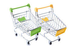 Shopping carts. On a white background Stock Photography