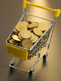 Shopping with cash Stock Photography