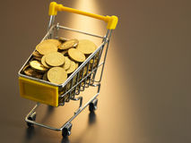 Shopping with cash Royalty Free Stock Photography