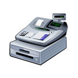 shopping cash register 3d icon isolated, line icon Royalty Free Stock Photo