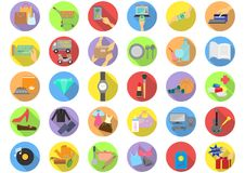Shopping categories flat icons Stock Photo