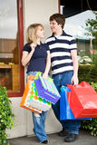 Shopping caucasian couple Royalty Free Stock Image