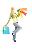 Shopping caucasian girl Royalty Free Stock Image