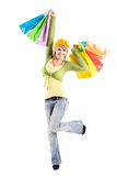 Shopping caucasian girl Stock Photos