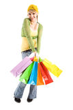 Shopping caucasian girl Royalty Free Stock Photos