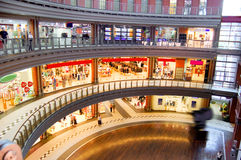 Shopping center. Picture of big multilevel shopping center Royalty Free Stock Images