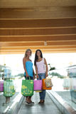 At shopping center Stock Images