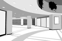 Shopping center background Stock Photo