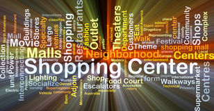 Shopping center background concept glowing Stock Images