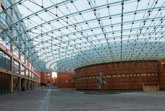 The shopping center of Banca Popolare di Lodi is a structure designed by Renzo Piano royalty free stock photo