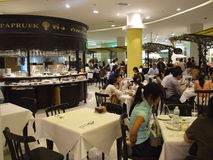 Shopping center cafe, Bangkok, Thailand. Royalty Free Stock Photography