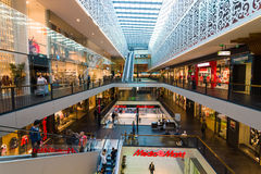 Shopping center Centrum Galerie in the old town. Royalty Free Stock Photo