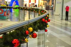 Shopping center Christmas decoration Stock Photos