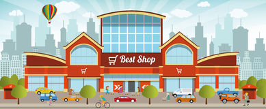 Shopping center in the city Royalty Free Stock Images