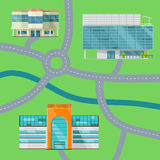 Shopping Center Concept Map Vector Illustration. Stock Images
