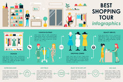 Shopping Center concept Retail infographic  Stock Photo