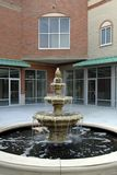 Shopping Center Courtyard. Newly constructed commercial space ready for tenant occupancy Royalty Free Stock Image