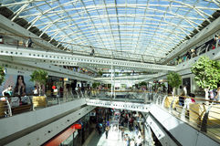 Shopping Center with Crossed Bridges Stock Photo