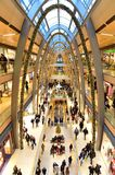 Shopping center interior in Hamburg, Germany Stock Images