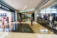 Shopping center interior Stock Images
