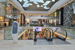 Shopping centre London. Inside Westfield shopping centre in London White City Stock Photo