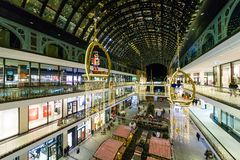 The shopping center `Mall of Berlin` at Leipziger Platz. BERLIN - DECEMBER 18, 2017: The shopping center `Mall of Berlin` at Leipziger Platz in the Christmas Stock Image