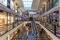 Shopping Center in Munster, Germany. MUNSTER, GERMANY - APR 4: Interior of the Modern Shopping Center Munsterarkaden in Munster. April 4, 2015 in Munster Stock Photography