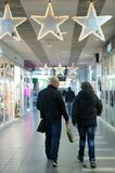 Shopping center in Poznan before closing time Royalty Free Stock Images