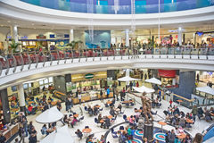 Shopping Center with restaurants. An image of Eastgate shopping Centre in Inverness, Scotland  with both shops and dining facilities Royalty Free Stock Images