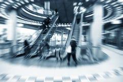 Shopping center rush stock photo