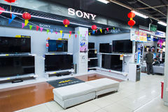 Shopping center. SHENZHEN, CHINA - JAN 19: shopping center interior in ShenZhen on January 19, 2015. ShenZhen is regarded as one of the most successful Special Stock Images