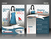 Shopping Center Store Flyer Royalty Free Stock Photo