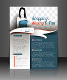 Shopping Center Store Flyer Royalty Free Stock Images