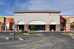 Shopping Center Strip Mall Stock Photo