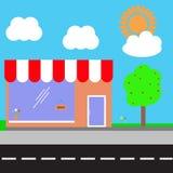 Shopping center. Vector illustration. Royalty Free Stock Image