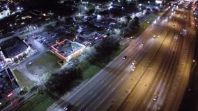 Shopping centers at night stock video