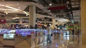 Shopping centre with atrium inside interior stock video