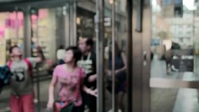 Shopping Centre Blur Entrance stock video footage