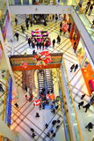 Shopping centre Bulgaria. People make shopping in big modern mall Christmas decorated,Picture taken on November 21st,2014,Varna city,Bulgaria Royalty Free Stock Photos