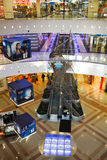 Shopping centre (mall). Interior of shopping-entertaining mall  Park House in Ekaterinburg, Russia, January 2011 Royalty Free Stock Photo
