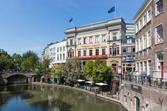 Shopping centre of Utrecht in the Netherlands Stock Photo