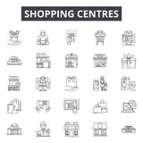 Shopping centres line icons, signs, vector set, linear concept, outline illustration vector illustration
