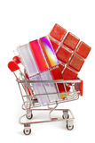 Shopping ceramic tiles Royalty Free Stock Photography