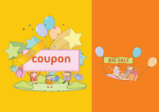 Shopping character Series. Flat design vector illustration character of business Royalty Free Stock Photo